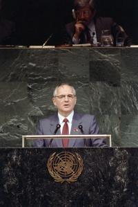Gorbachov en la ONU | UN Photo